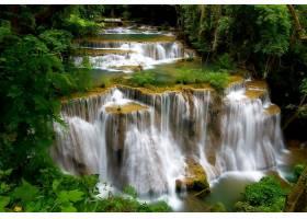 瀑布,瀑布,自然,植物,泰国,水,壁纸,图片
