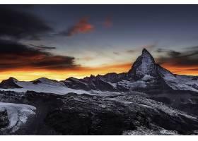 山,山脉,风景,日出,山峰,壁纸,