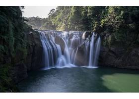 瀑布,瀑布,自然,河,岩石,森林,壁纸,图片