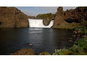 瀑布,瀑布,自然,河,岩石,水,植物,壁纸,图片