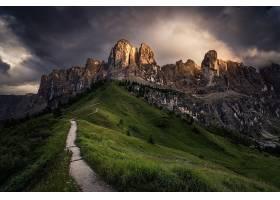 山,山脉,风景,自然,小路,草,山峰,壁纸,