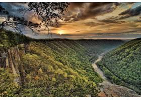 地球,风景,自然,森林,河,天空,日落,云,壁纸,图片