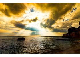 阳光,自然,海洋,云,地平线,壁纸,图片