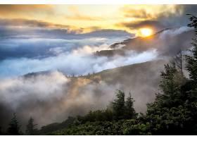 雾,日出,山,云,自然,风景,风景优美的,壁纸,图片