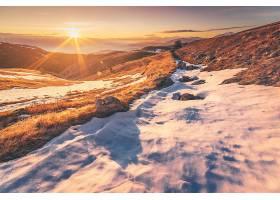 阳光,自然,雪,岩石,风景,冬天的,日出,壁纸,图片