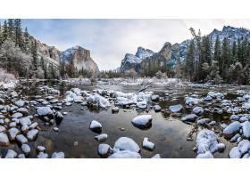 约塞米蒂国家公园,国家的,公园,国家的,公园,自然,风景,冬天的,山图片