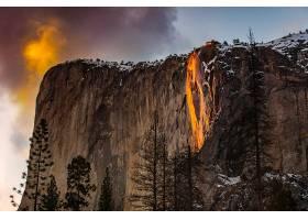 约塞米蒂国家公园,瀑布,瀑布,山,瀑布,自然,悬崖,约塞米蒂国家公图片