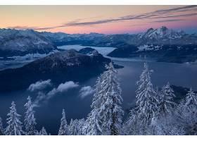 地球,风景,自然,湖,山,冬天的,全景画,壁纸,图片
