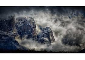 雾,山,自然,悬崖,壁纸,图片
