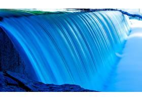 瀑布,瀑布,自然,蓝色,壁纸,图片