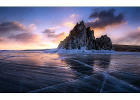 岩石,自然,冰,冬天的,壁纸,图片