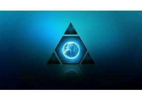 艺术的,蓝色,行星,三角,壁纸,图片