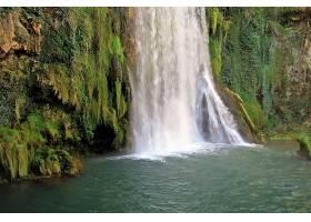 瀑布,瀑布,自然,西班牙,植物,水,萨拉戈萨,壁纸,图片