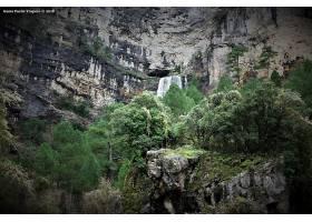 瀑布,瀑布,自然,西班牙,水,植物,树,岩石,卡斯蒂利亚,a音的唱名,图片