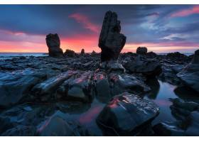 岩石,自然,日落,壁纸,图片