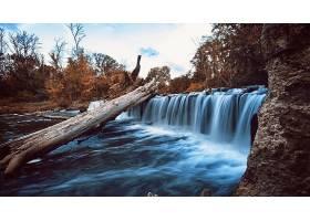 瀑布,瀑布,自然,阻止,水,植物,岩石,壁纸,图片