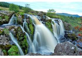 跳跃,关于,Fintry,瀑布,瀑布,瀑布,壁纸,(12)图片
