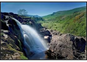 跳跃,关于,Fintry,瀑布,瀑布,瀑布,壁纸,(4)图片