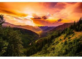 地球,风景,全景画,自然,山谷,云,日落,壁纸,图片
