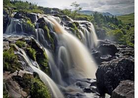 瀑布,瀑布,自然,风景,岩石,苏格兰,壁纸,图片