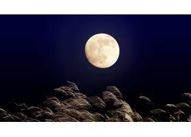 月球,夜晚,壁纸,(1)图片