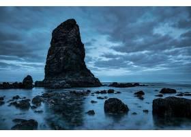 岩石,自然,海洋,天空,云,地平线,壁纸,图片
