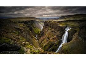 瀑布,瀑布,自然,风景,峡谷,壁纸,图片