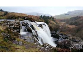 跳跃,关于,Fintry,瀑布,瀑布,瀑布,壁纸,(9)图片