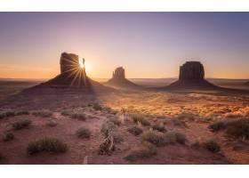 地球,纪念碑,山谷,自然,岩石,沙漠,风景,日出,犹他州,壁纸,