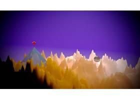 风景,3D,图表的,设计,数字的,艺术,CGI,摘要,壁纸,