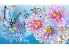 花,蝴蝶,壁纸,(1)