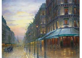 地方,绘画,巴黎,法国,埃菲尔铁塔,塔,壁纸,