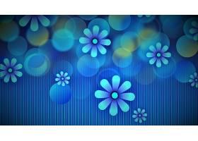 花,花,摘要,蓝色,图表的,设计,壁纸,