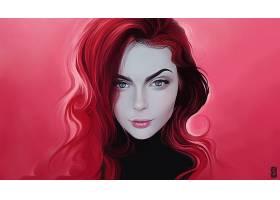 女人,妇女,女孩,脸,浅绿色,眼睛,粉红色,头发,壁纸,