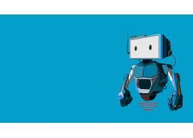 希腊字母的第一个字母,编码员,机器人,蓝色,壁纸,
