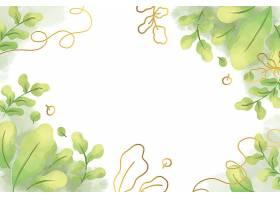 热带植物边框背景