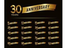 大气金色金属质感高端周年庆数字主题标签