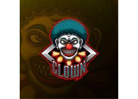 小丑主题游戏徽章图标LOGO设计