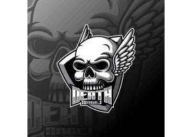 骷髅主题游戏徽章图标LOGO设计