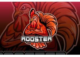 雄鸡主题游戏徽章图标LOGO设计