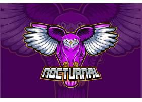 老鹰主题游戏徽章图标LOGO设计