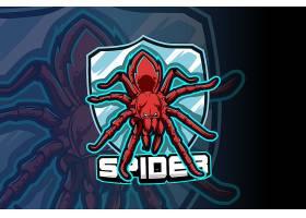 蜘蛛主题游戏徽章图标LOGO设计