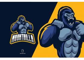 金刚猩猩主题游戏徽章图标LOGO设计