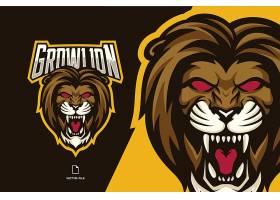 雄狮主题游戏徽章图标LOGO设计