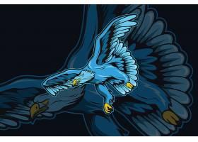 雄鹰主题游戏徽章图标LOGO设计