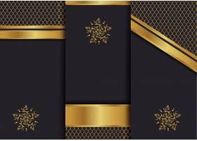 香槟金色与高端大气黑色矢量装饰背景