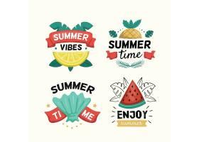 夏日西瓜水果主题矢量LOGO图标徽章设计