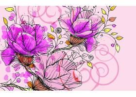 花,矢量,壁纸,(1)