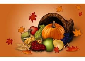 秋天,水果,食物,南瓜,叶子,壁纸,