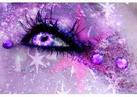 眼睛,化妆品,闪烁,紫色,闪耀,星星,珠宝,壁纸,